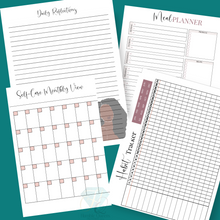 Load image into Gallery viewer, Self Care Printable Planner | Girl Boss l Mompreneur Journal