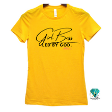 Load image into Gallery viewer, Girl Boss led by God Tee