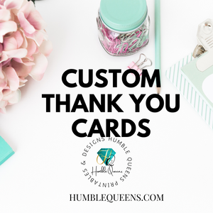 Custom Thank You Cards, Set of 50 Thank You Cards, Printed Physical Card Inserts Bulk, Small Business