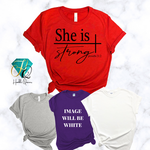 She is Strong Queen Tee l  Best Christian Shirts, She Is Strong Shirt, Jesus Shirt, Faith Shirt, Religious Shirt, Inspirational Shirt, Bible Quotes, Church Quotes