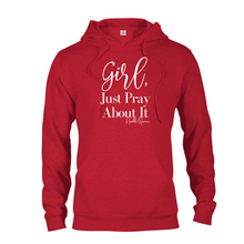 Load image into Gallery viewer, Sweatshirt, Hoodie, Long Sleeve, Girl Pray 1 Thessalonians 5:16-18, Christian Apparel, Christian Clothing, Christian Shirts For Women, Long Sleeve Shirt Women, Gift