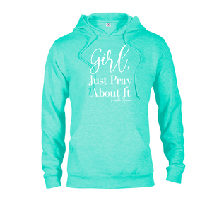 Sweatshirt, Hoodie, Long Sleeve, Girl Pray 1 Thessalonians 5:16-18, Christian Apparel, Christian Clothing, Christian Shirts For Women, Long Sleeve Shirt Women, Gift