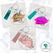Load image into Gallery viewer, Pray about it Key Chain | Christian key chain | Acrylic key chain | Bible verse key chain | Prayer Key chain | Christian gift