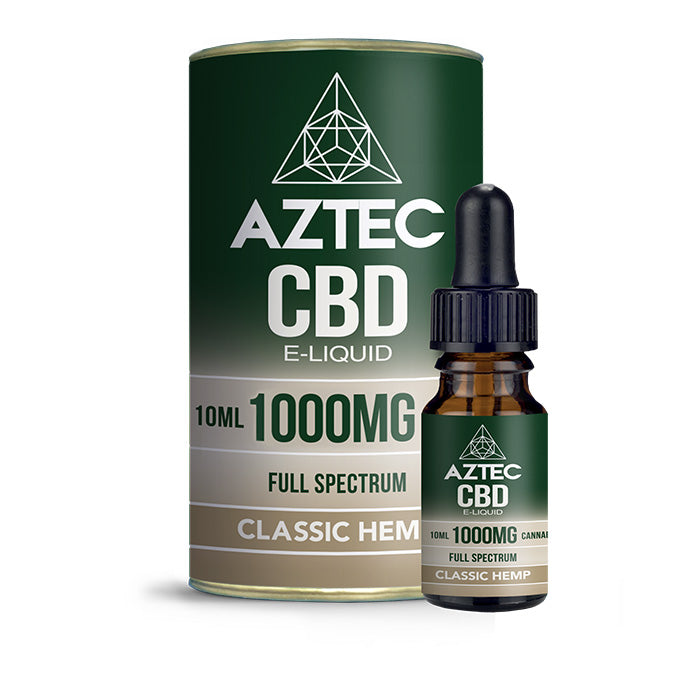 Aztec CBD - Classic Hemp 10ml E-Liquid - 1000mg