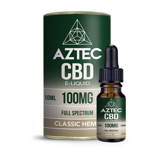 Aztec CBD - Classic Hemp 10ml E-Liquid - 100mg