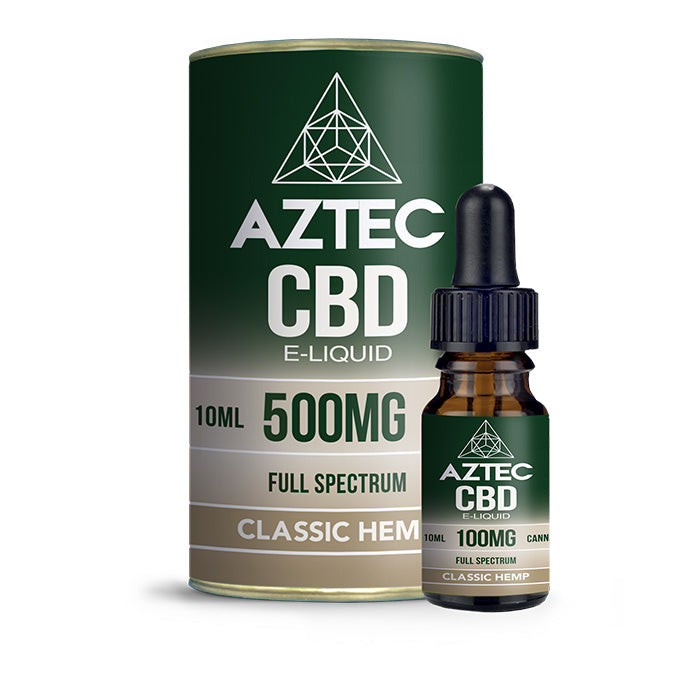 Aztec CBD - Classic Hemp 10ml E-Liquid - 500mg