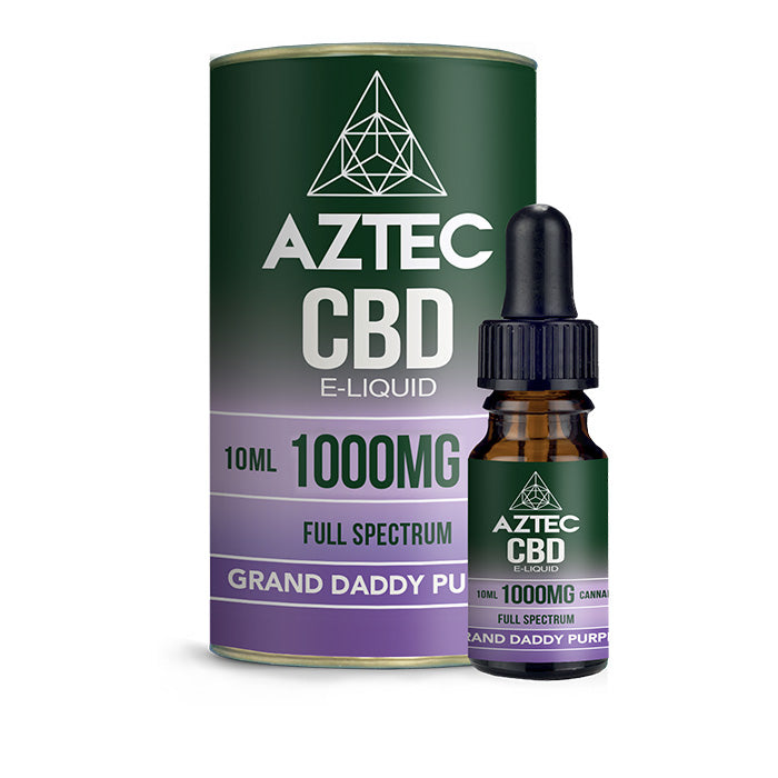Aztec CBD - Granddaddy Purple 10ml E-Liquid - 1000mg