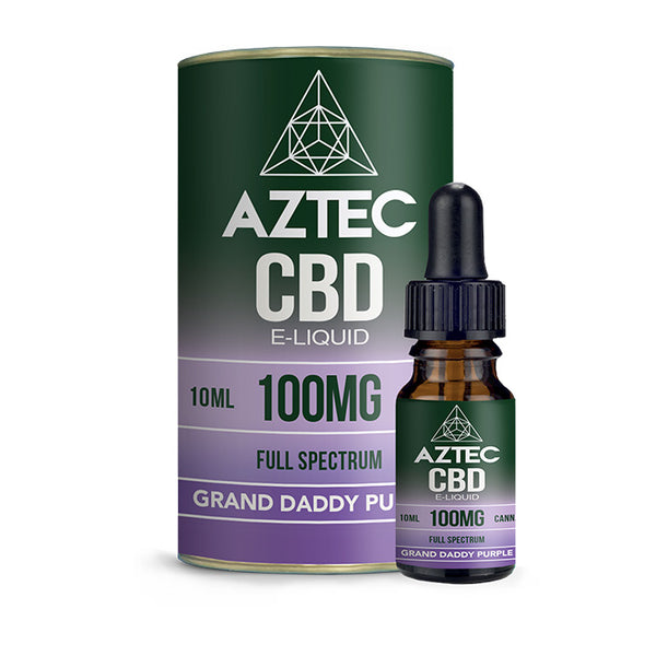 Aztec CBD - Granddaddy Purple 10ml E-Liquid - 100mg