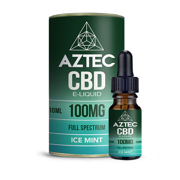 Aztec CBD - Ice Mint 10ml E-Liquid - 100mg