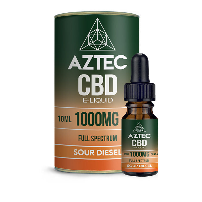 Aztec CBD - Sour Diesel 10ml E-Liquid - 1000mg