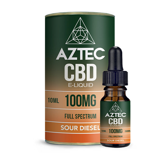 Aztec CBD - Sour Diesel 10ml E-Liquid - 100mg