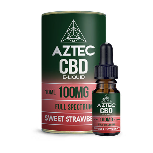 Aztec CBD - Sweet Strawberry 10ml E-Liquid - 100mg