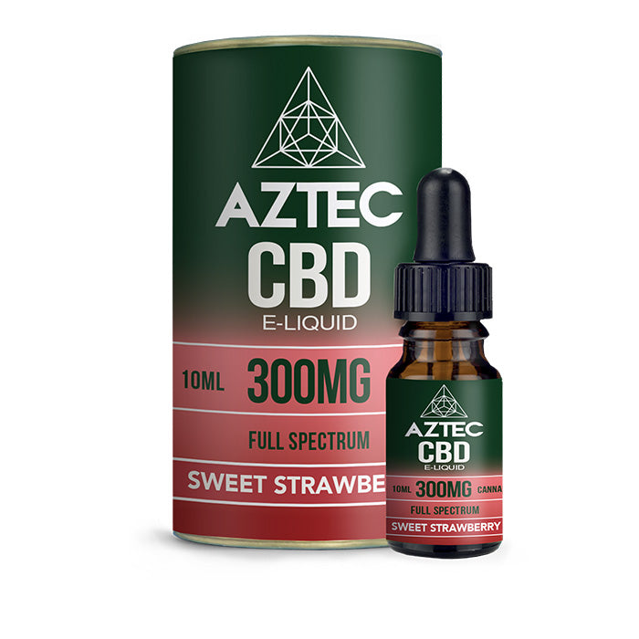 Aztec CBD - Sweet Strawberry 10ml E-Liquid - 300mg