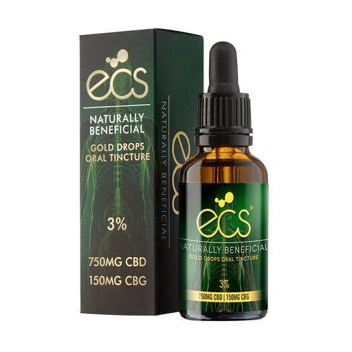 Canavape ECS Gold Drops Oral Tinctures - 3%