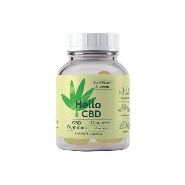 Hello CBD 300mg CBD Gummies - Elderflower & Lemon