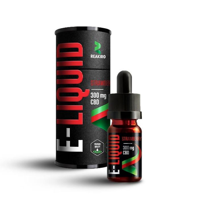 Reakiro 10ml CBD E-liquid Strawberry - 300mg