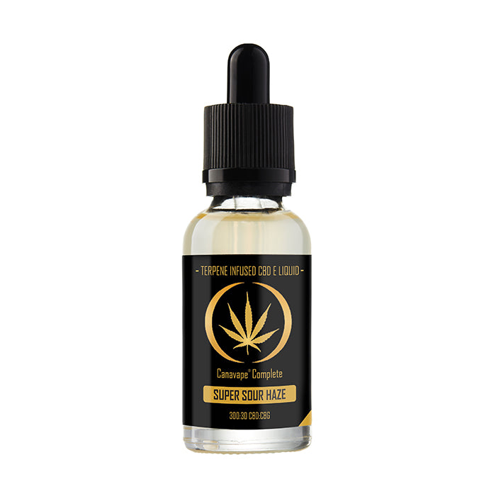 Canavape Complete CBD - 20ml Super Sour Haze E-Liquid - 300mg