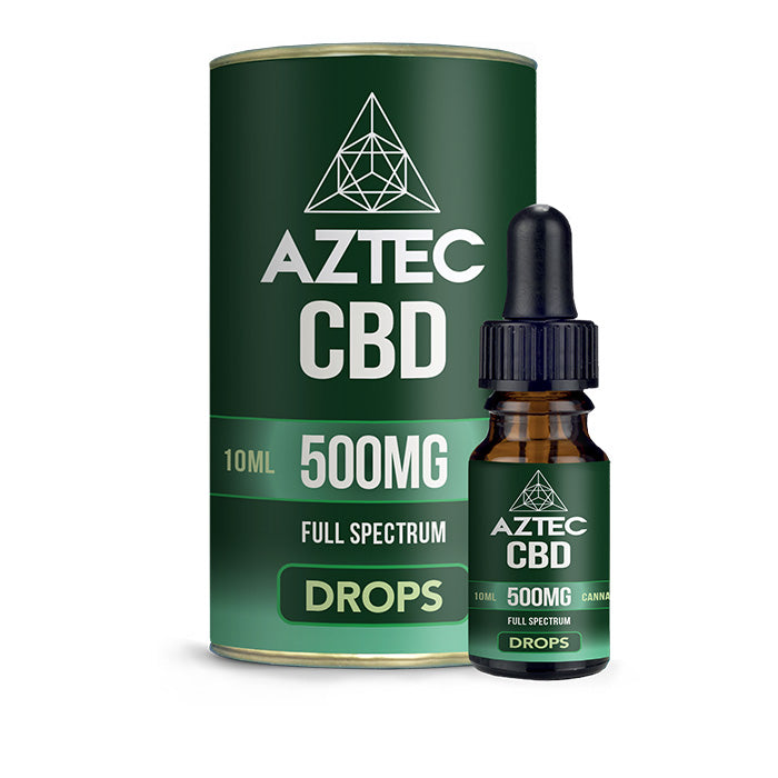 Aztec - Full Spectrum CBD Oil Drops - 500mg