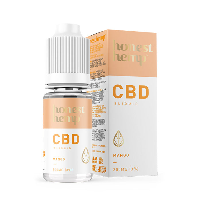 Honest Hemp - Strawberry 10ml CBD E-Liquid