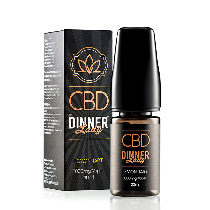 Dinner Lady CBD Lemon Tart Vape Juice 30ml 1000mg