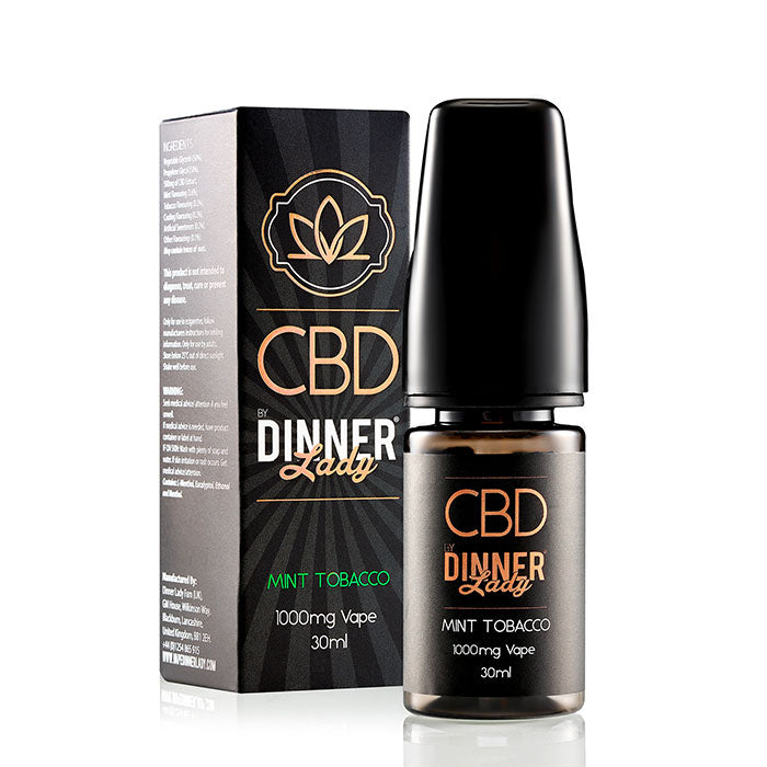 Dinner Lady CBD Mint Tobacco Vape Juice 30ml 1000mg CBD