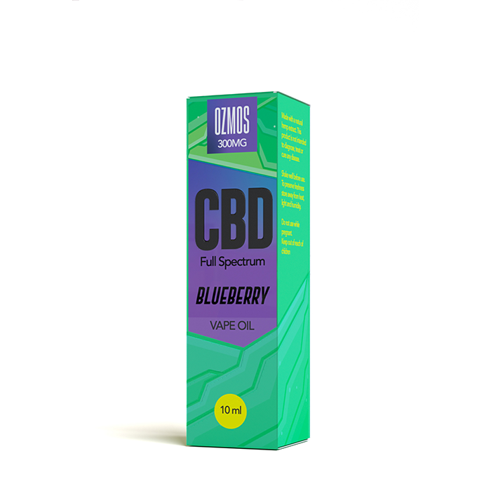Ozmos CBD - Blueberry 300mg CBD 10ml Vape Juice