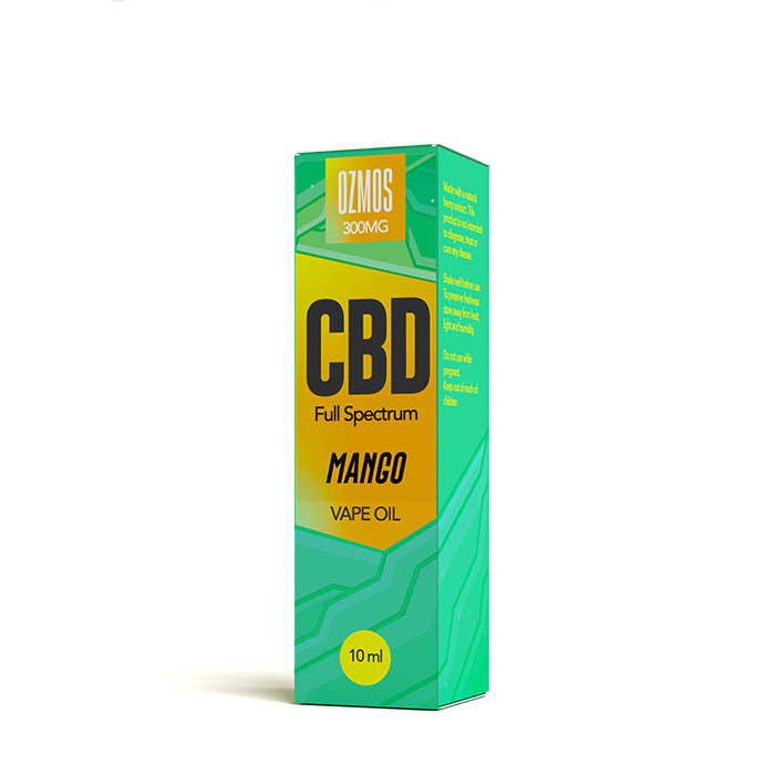 Ozmos CBD - Mango 300mg CBD 10ml Vape Juice
