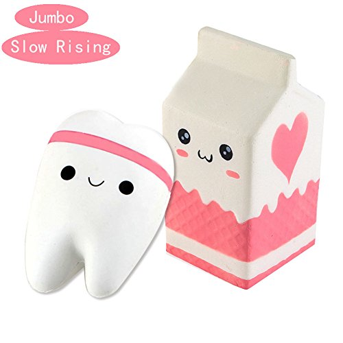 Milk Carton Bottle and Tooth Jumbo Squishies - Loomance Squishies