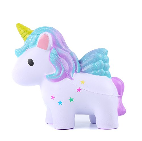 Squishies Slow Rising Jumbo Kawaii Cute Colored Unicorn - Loomance Squishies