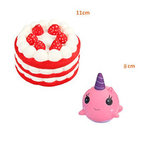 Cake and Whale Scented Squishies Slow Rising Kawaii Squishy - Loomance Squishies