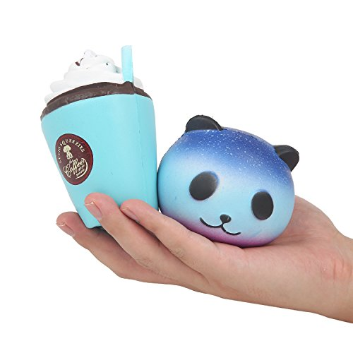 Panda and Coffee Cup Scented Jumbo Squishy Squeeze Decorations Kids Toy - Loomance Squishies