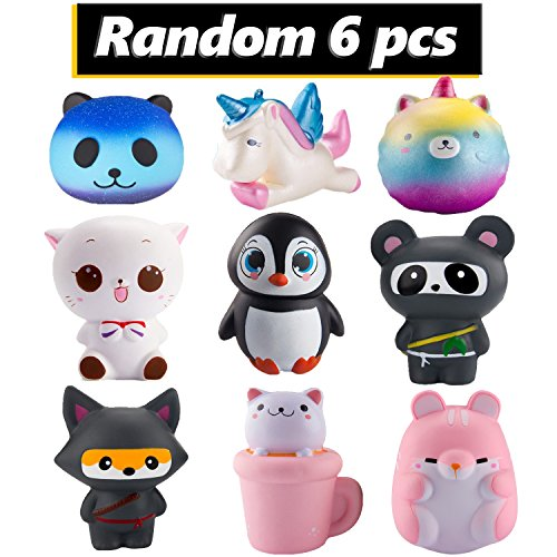 6Pcs Cute Animal squishy Random Animal set - Loomance Squishies