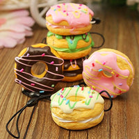 3 Pack Donut Ice Cream & Mini Kawai Cream Scented Vent Charms - Loomance Squishies