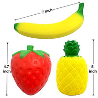 6PCS Squishies Strawberry Peach Banana Lemon Watermelon Pineapple Charms Fruits - Loomance Squishies