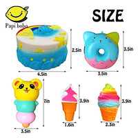 PACK of 7 - Rainbow Triangle Cake, Donuts & Ice Cream, Kawaii Squishy Toys - Loomance Squishies