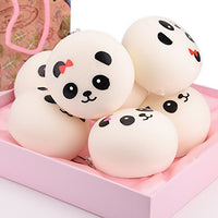 "4"" Slow Rising Panda Squishies Jumbo Panda Set of 4 - Loomance Squishies"