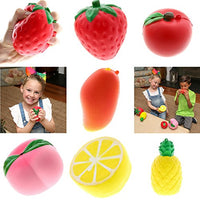 Fruit Squishies Pack of 6 With Mango Silly Fruit Squishy Toys - Loomance Squishies