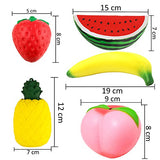5 Pcs Jumbo Peach Banana Watermelon Pineapple Strawberry Fruit Squeeze - Loomance Squishies