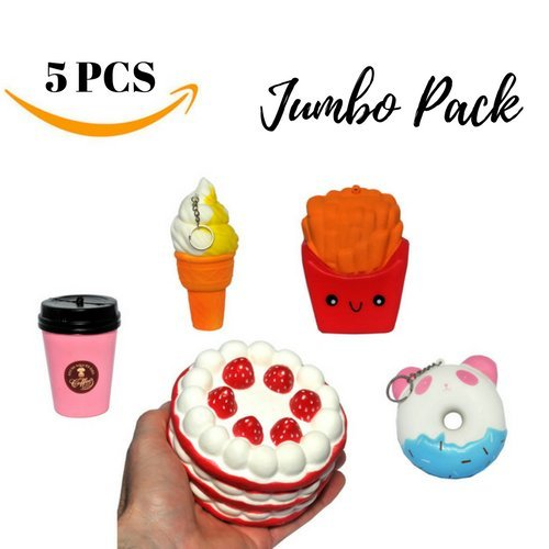 5 Pack Set  Sweet Scented Cute Squishy Large Food Toys - Loomance Squishies