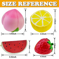 4 pcs Squishy Toy Fruit Toys Composition Strawberry Lemon Watermelon Peach - Loomance Squishies