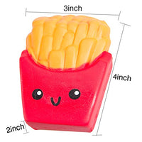 Food Squishies hamburger fries&Jumbo pink ice cream - Loomance Squishies