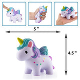 2 Pack Squishies Slow Rising Unicorns - Loomance Squishies