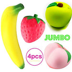 4 Pack Kawaii Squishy Strawberry Peach Banana Apple - Loomance Squishies