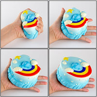 Cake Set Squishy Kid Toy Hand Toy,  dolphin cake&cream - Loomance Squishies