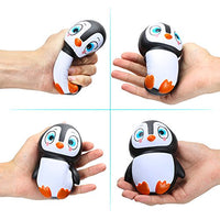 2PCS Cute Soft Squishy Slow Rising Toy Penguin - Loomance Squishies