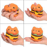 Squishies Cat Hamburger Coffee cup Popcorn Sweet Squishy Toys 3 PC - Loomance Squishies