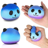 3 Pack Galaxy Panda Penguin Moon Unicorn  Scented Squeeze - Loomance Squishies
