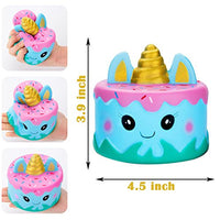 Narwhal Cake Squishy Kawaii Cute Unicorn Mousse Ice Cream 3Pack - Loomance Squishies