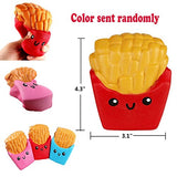 Pack of 3 Jumbo Slow Rising Squishies Cat Hamburger Fries Ice Cream - Loomance Squishies