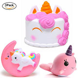 Jumbo Squishy White Unicorn Mousse Cake Cream Scented Squeeze Toys - Loomance Squishies